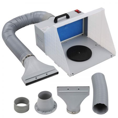 Portable Airbrush Spray Booth Hose Filter Extractor Air Brush
