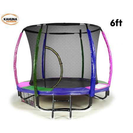 Kahuna 6ft Trampoline with Rainbow Safety Pad