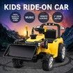 New Kids Ride-On Tractor Loader Electric Car Battery Toy Foot Accelerator W/ Remote Control