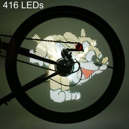 FT - 801 Pro DIY Bicycle Cycling 416 LEDs Waterproof Colorful Changing Video Pictures Bike Wheel Spoke Light