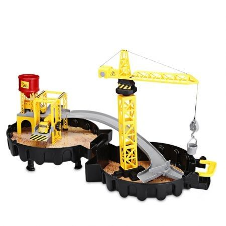 WY205 Construction Sites with Diecast Play Set Garage Toys