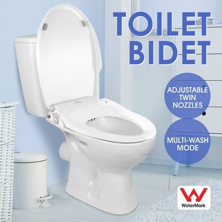Groovy Non Electric Bidet Toilet Seat Cover Hygiene Washlet Dual Nozzle Sprayer Bathroom Shattaf Caraccident5 Cool Chair Designs And Ideas Caraccident5Info