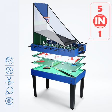 5-in-1 Multi Game Table Foosball Pool Hockey Soccer Table Tennis  Basketball Family Sport