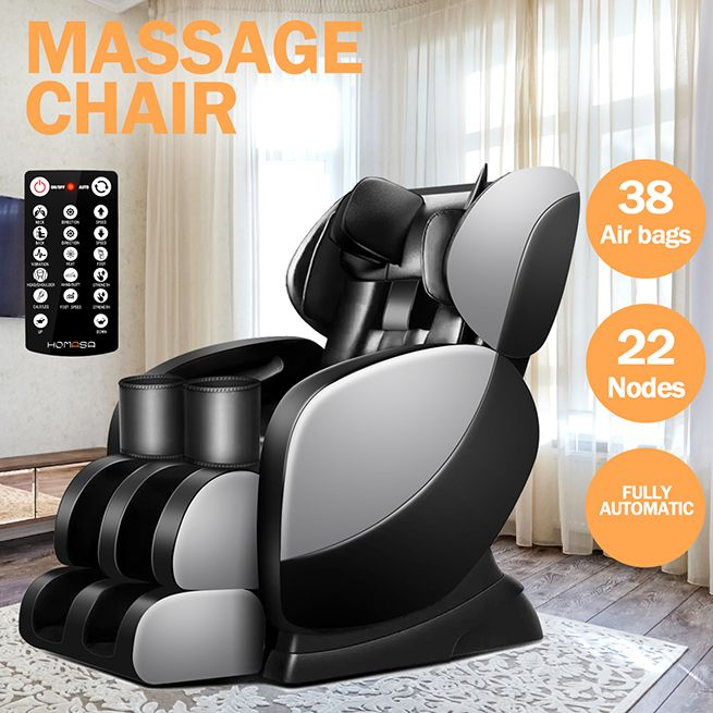 Electric Massage Chair Full Body Zero Gravity Shiatsu Recliner W Heat