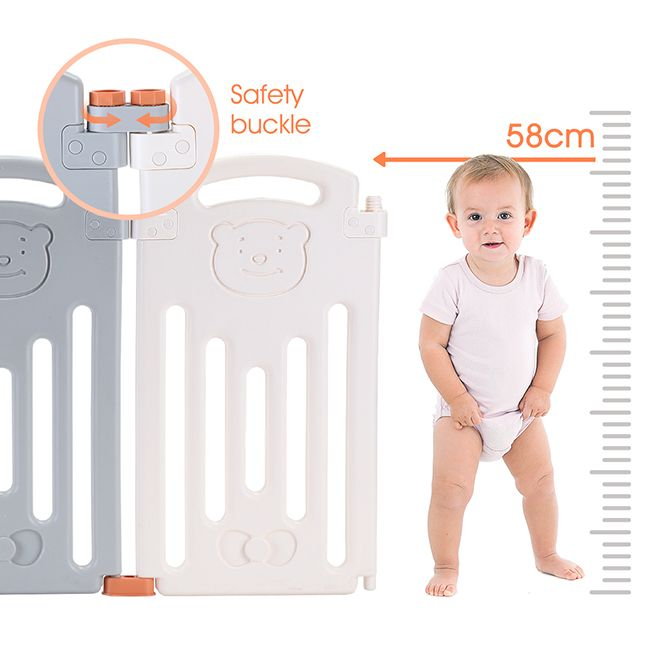 Abst 16 Sided Foldable Panel Baby Playpen Interactive Baby