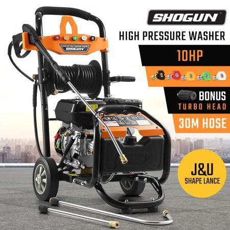 SHOGUN10HP High Pressure Washer Petrol Water Gurney Cleaner W/ 30M Hose