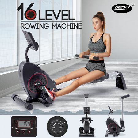 Genki Magnetic Exercise Rowing Machine Home Gym Flywheel Fitness Rower Equipment