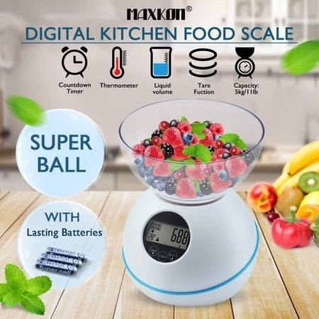 1g/5kg Digital Kitchen Scales Electronic Multifunction Food Weight Scale Commercial