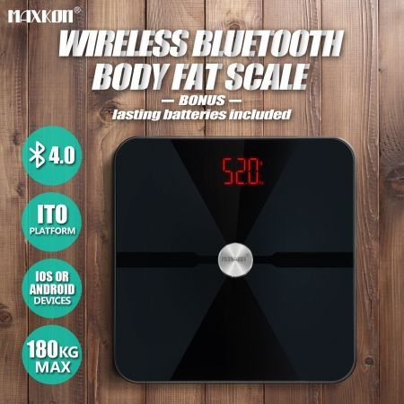 180kg Bluetooth Digital Body Fat Bathroom Scale Water Gym Baby Weight Analysis Scale