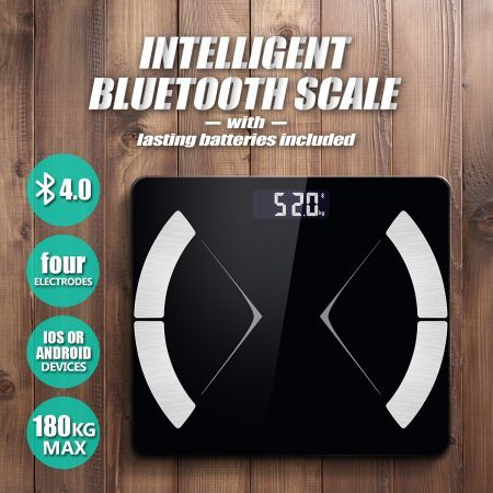 Bluetooth Digital Body Fat Bathroom Scale Glass Water Gym Baby Weight Analysis Scale