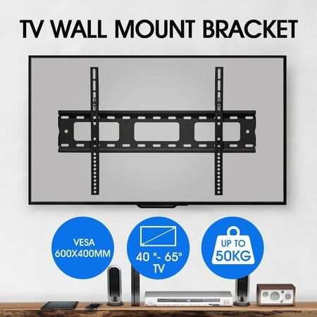 TV Wall Mount Bracket Slim Hanger Flat Screen LED LCD Plasma VESA 40-65 Inch