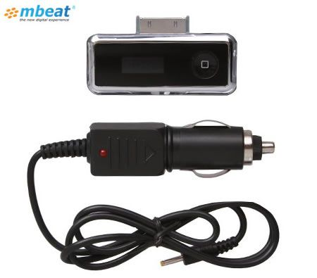 Car Audio iPod / iPhone FM Stereo Transmitter Modulator & Charger - Black