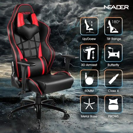 High Back Racing Gaming Office Chair Executive Office Sports Recliner Seat