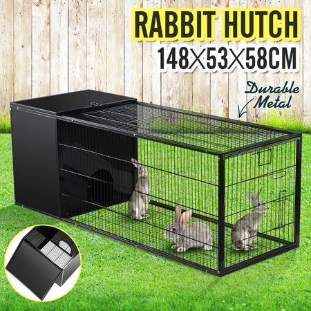 148CM Pet Cage Rabbit Hutch Bunny Cat Hamster Guinea Pig Ferret Chinchilla House