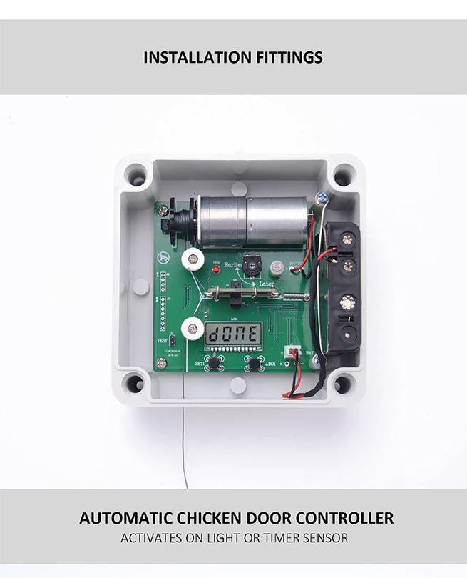 New Automatic Chicken Coop Door Auto Door Opener Cage