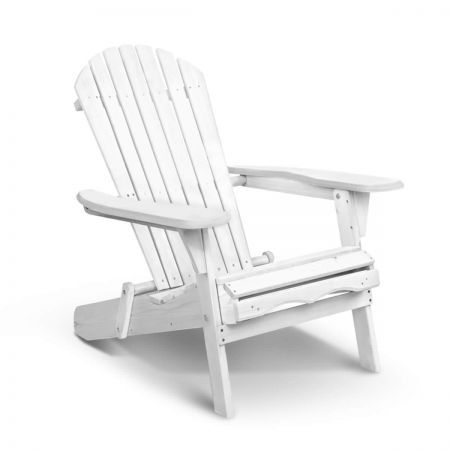 Foldable Adirondack Bench Chair - White