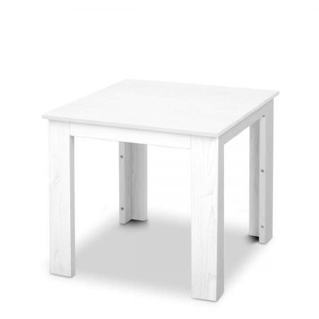 Outdoor Side Table - White