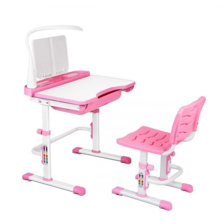 Kids Study Desk and Chair - Pink