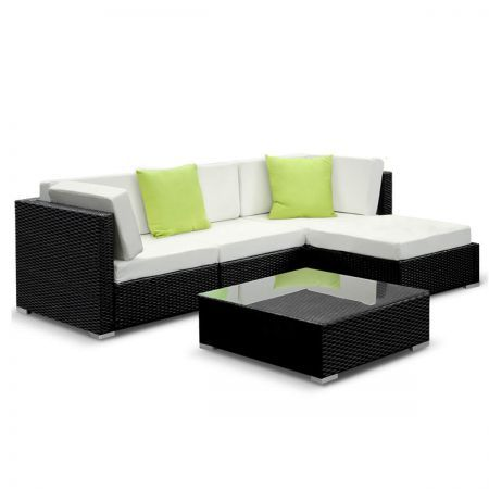 5pcs Outdoor Furniture Sofa Set Wicker Garden Patio Pool Lounge