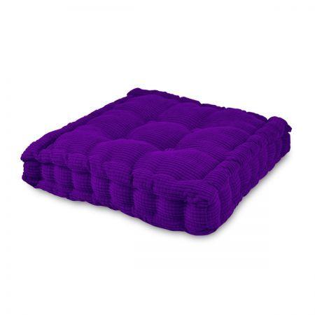 Soft Seat Back Cushion Square Chair Pad Sofa Mat Purple