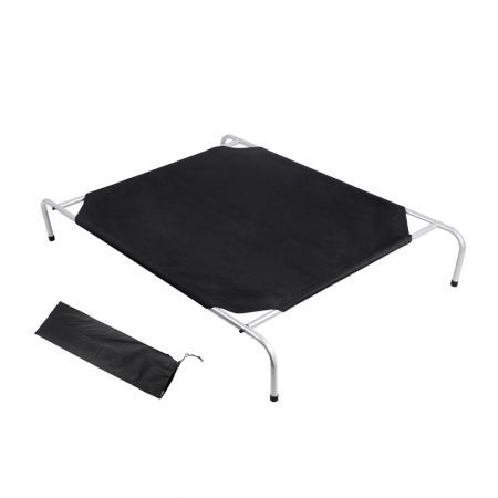 i.Pet Medium Canvash Heavy Duty Pet Trampoline - Black
