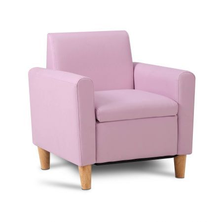 Artiss Kids PU Leather Armchair - Pink
