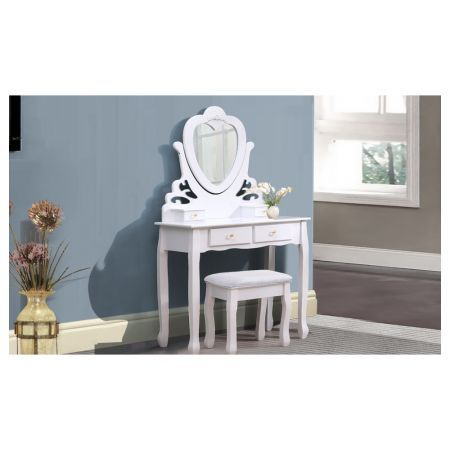 Luxury Mirrored Dressing Table & Stool