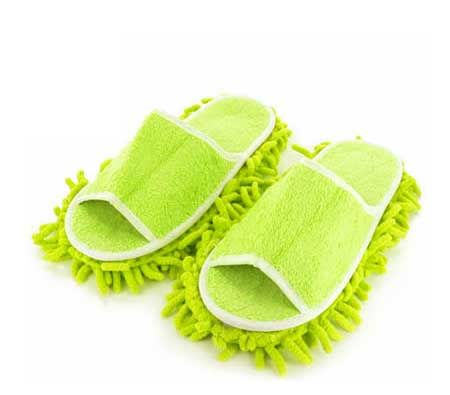 Cleaning Mop Slipper Shoes - Clean Floors As You Walk - Green