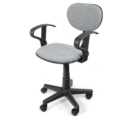 Student / Computer / Office Chair with Arm Rests - Height Adjustable - Charcoal