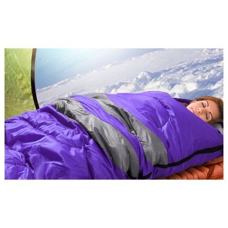 Micro Compact Design Thermal Sleeping Bag - Purple