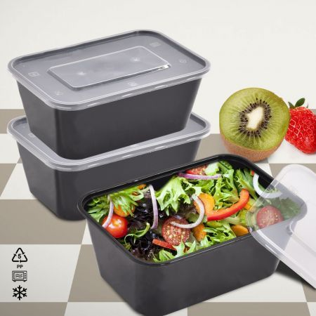 10Pcs Microwave Safe Plastic Meal Prep Container 950ml