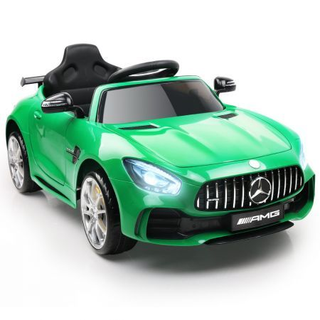 Kids Ride On Car MercedesBenz AMG GT R Electric 12V Green
