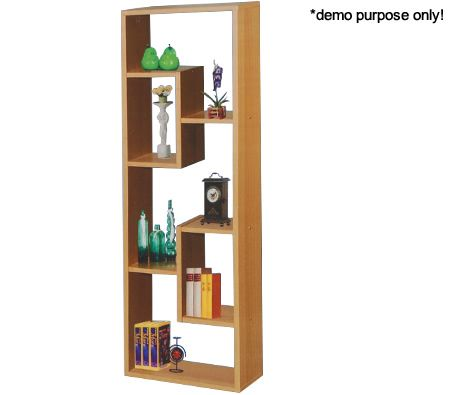 5 Level Wooden CD / DVD Wooden Freestanding Floor Storage Rack Display Holder / Bookcase - Jigsaw Design