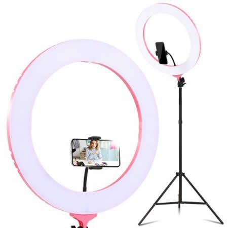 "19"" LED Ring Light 6500K 5800LM Dimmable Diva With Stand"