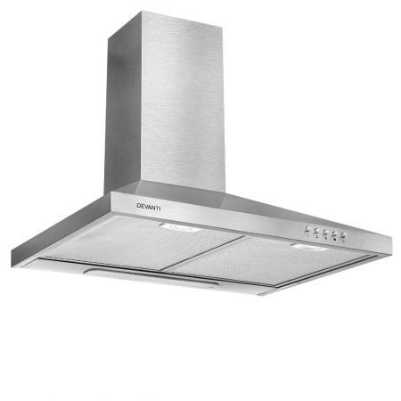 DEVANTi 600mm Rangehood Stainless Steel Range Hood Home Kitchen Canopy