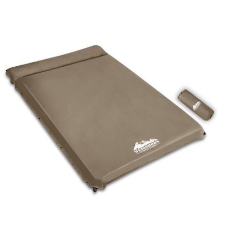 Weisshorn Double Size Self Inflating Mattress Mat 10CM Thick   Coffee