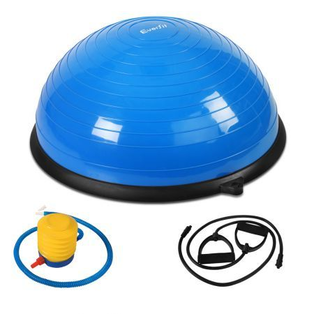 Everfit Balance Ball Trainer Fitness Yoga Gym Exercise Core Pilates Half Blue