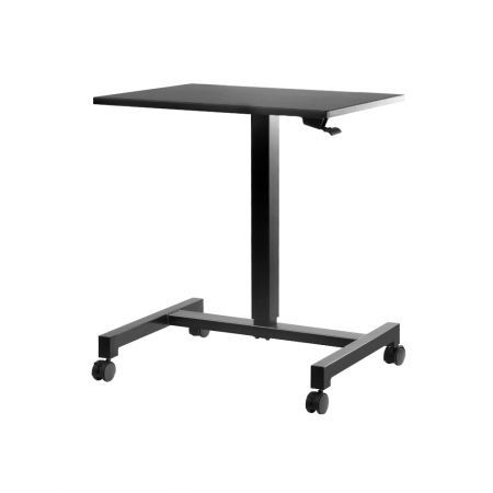 Artiss Mobile Height Adjustable Standing Desk Sit Stand Portable Computer Laptop Bar Table Gas Lift Black