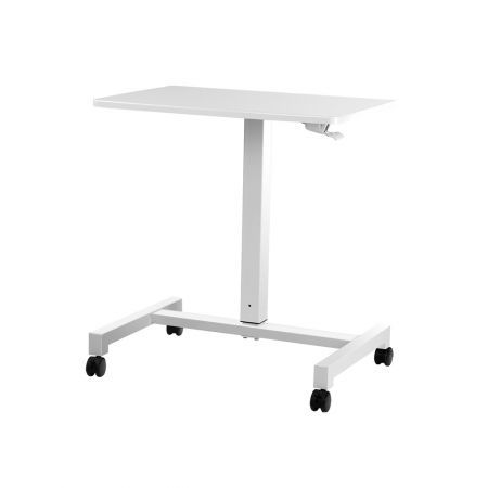 Magnificent Artiss Mobile Height Adjustable Standing Desk Sit Stand Portable Computer Laptop Bar Table Gas Lift White Home Remodeling Inspirations Propsscottssportslandcom