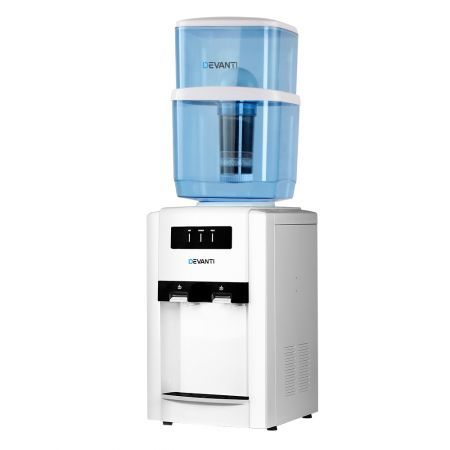 Devanti 22L Water Cooler Dispenser Bench Top Filter Purifier Hot Cold Dual Water Two Taps