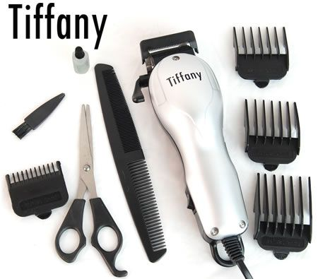 tiffany hair beard trimmer moustache clipper set 4 trim guides crazy sales. Black Bedroom Furniture Sets. Home Design Ideas