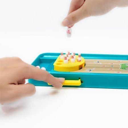 MoFun 1788 - B Mini Frog Bowling Table Desktop Game Launcher Toy