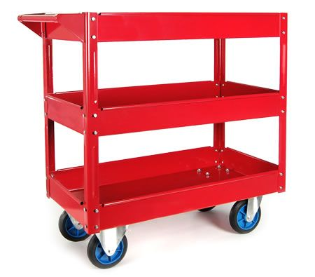 Mechanic Handyman Tool Cart Trolley With 3 Level Tray On