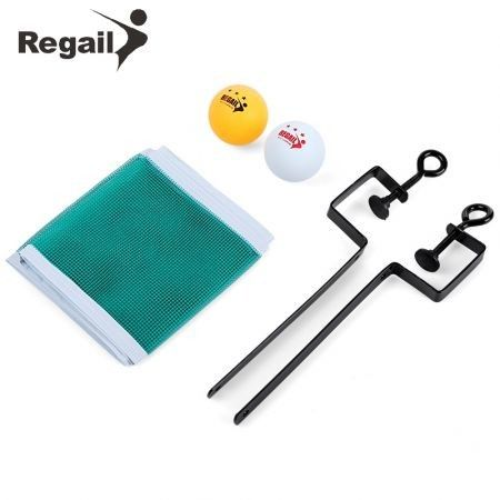 REGAIL Training Competition Ping Pong Ball Net Fix Equipment Practical Table Tennis Set