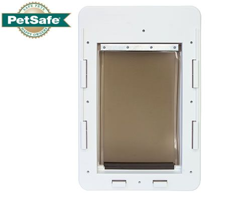 PetSafe Quick Fit White Pet Dog Door - Large P2-LW-11