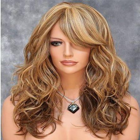 Euramerican Shave Face Female Hair Mixes Aureate Pear Flower Head Melting Wig