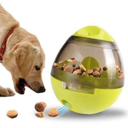 Pet tumbler ball puzzle training toy green