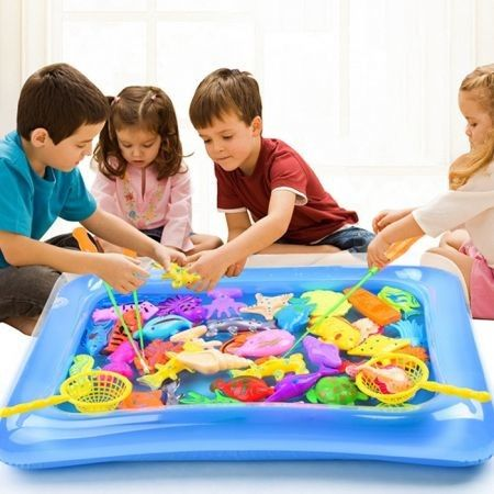 Magnetic Fishing Model Toy Set Kids Gift for Intelligence Development