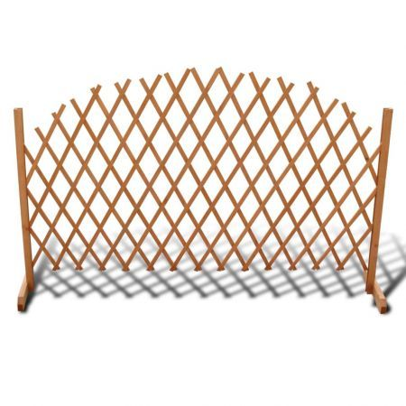Extendable Wood Trellis Fence 180 x 100 cm