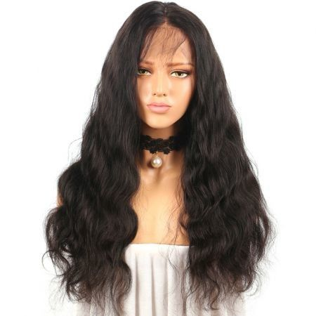 Long Free Part Fluffy Natural Wavy Lace Front Synthetic Wig